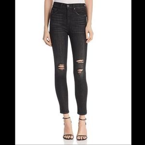 rag & bone High Rise Distressed Skinny Jeans